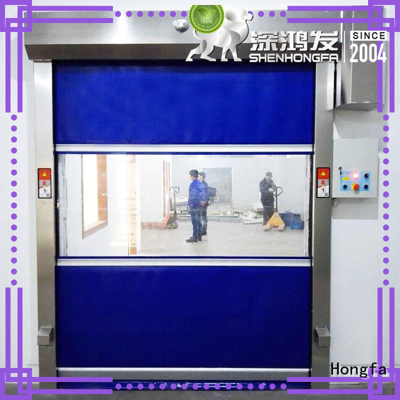 Hongfa perfect roll up doors interior supplier for supermarket