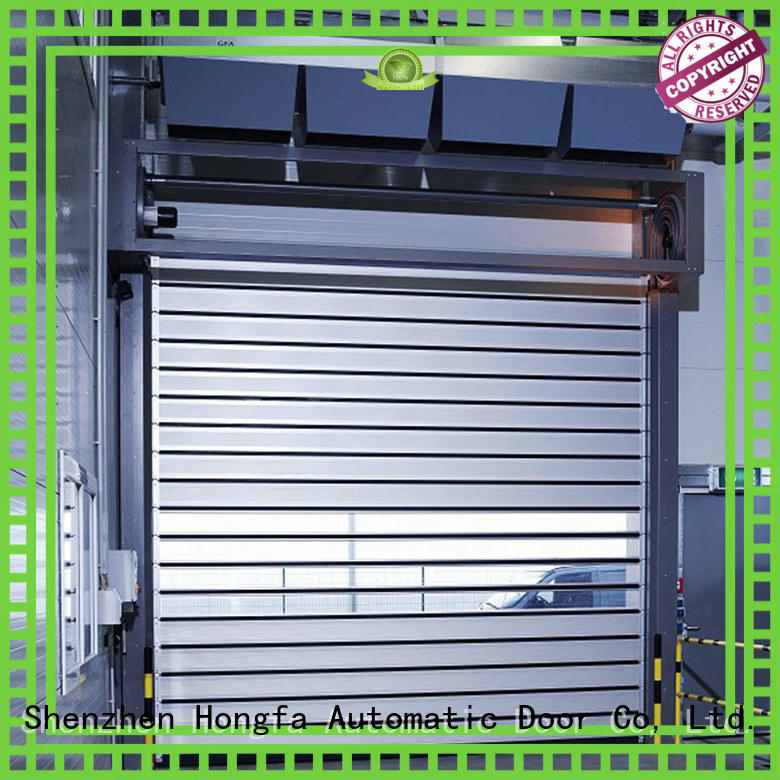 security electric roll up door aluminum for industrial warehouse Hongfa