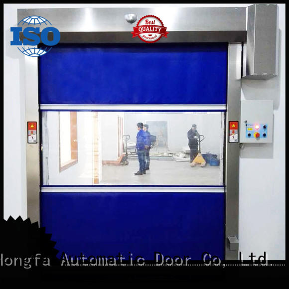 Hongfa automatic high speed roll up doors newly for food chemistry textile electronics supemarket refrigeration logistics