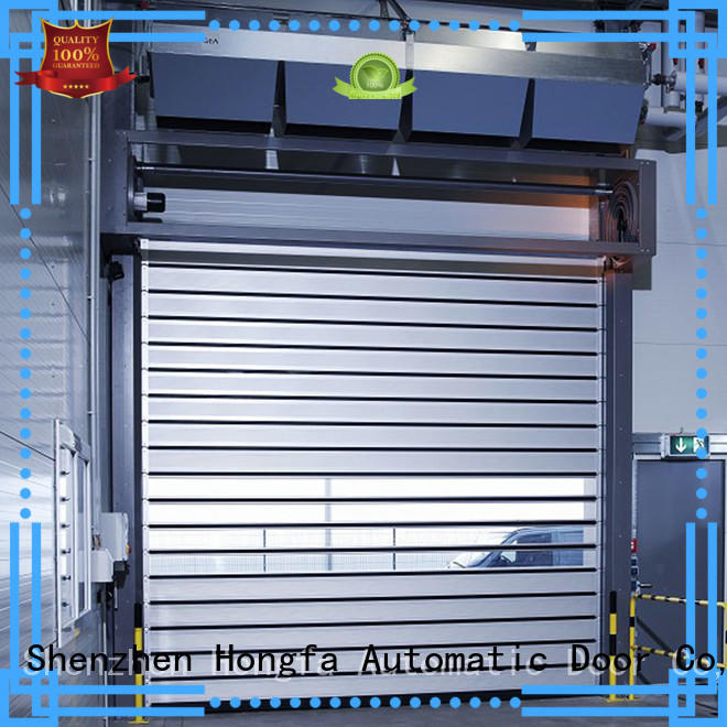 Hongfa automatic electric roll up door types for parking lot