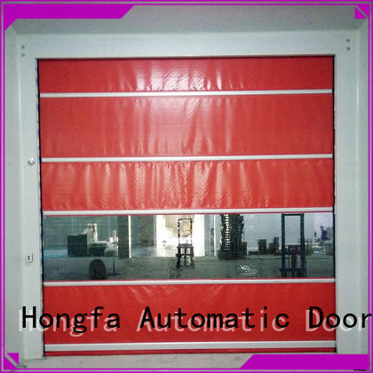 Hongfa curtain rapid roll up door widely-use for supermarket