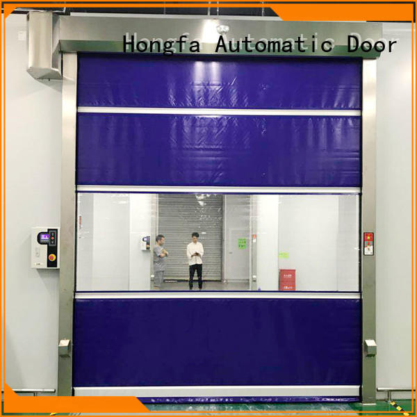 automatic fabric door in different color for factory