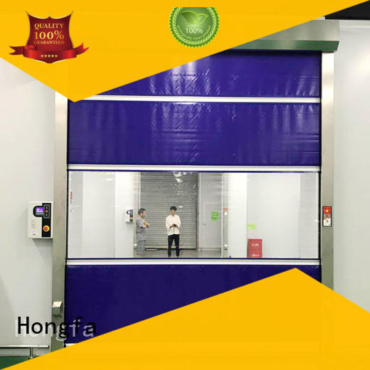 action high speed roller shutter doors in different color for storage Hongfa
