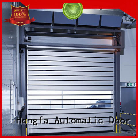 Hongfa automatic high speed spiral door types for industrial warehouse