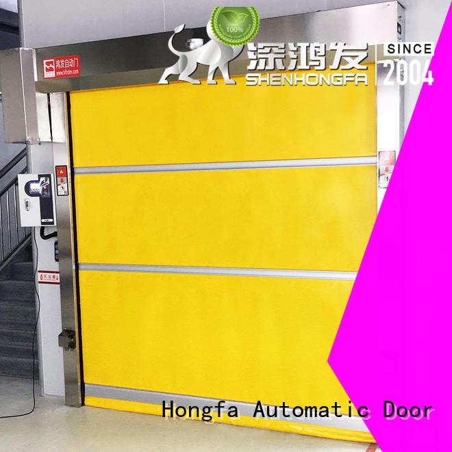 Hongfa high-tech automatic roll up door overseas market for supermarket