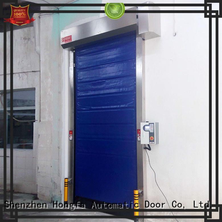 Hongfa storage cold storage door overseas market for supermarket