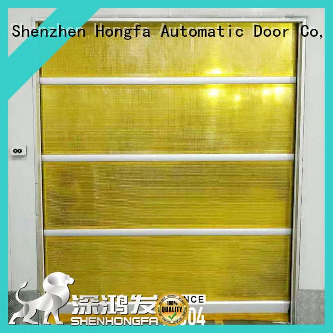 Hongfa efficient insulated roll up door room for supermarket