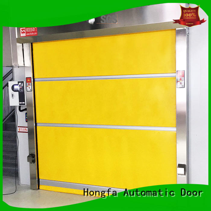 Hongfa high-speed high speed shutter door widely-use for food chemistry textile electronics supemarket refrigeration logistics