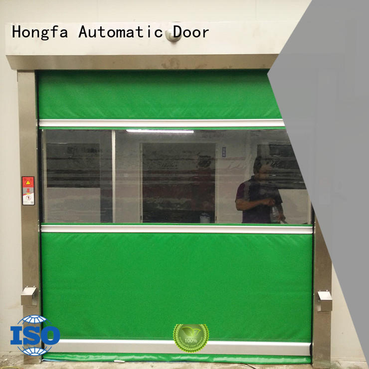 Hongfa professional roll up doors interior overseas market for food chemistry textile electronics supemarket refrigeration logistics