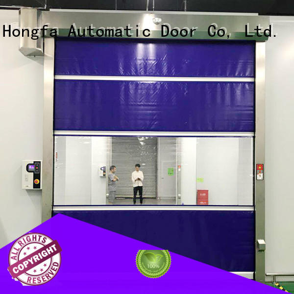 Hongfa curtain automatic roll up door in china for supermarket