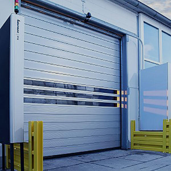 Hongfa security electric roll up door in different color for parking lot-1