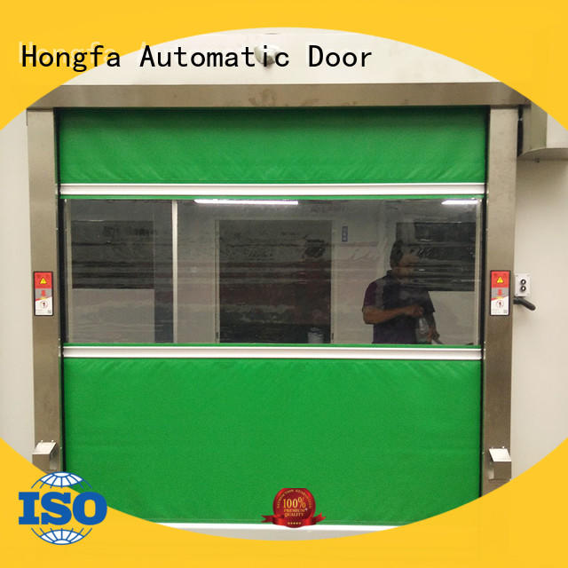 control fabric roll up doors in different color for food chemistry textile electronics supemarket refrigeration logistics