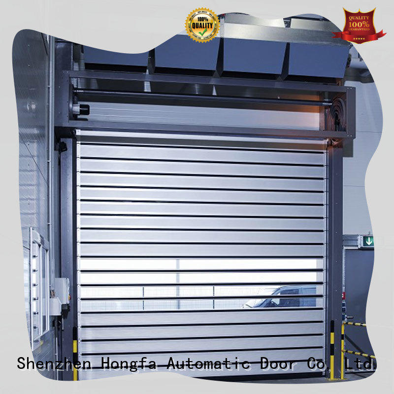 Hongfa automatic spiral fast door types for industrial warehouse