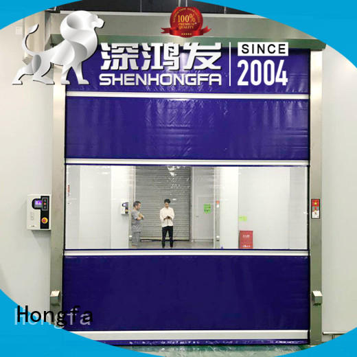 Hongfa high-speed insulated roll up door overseas market for warehousing