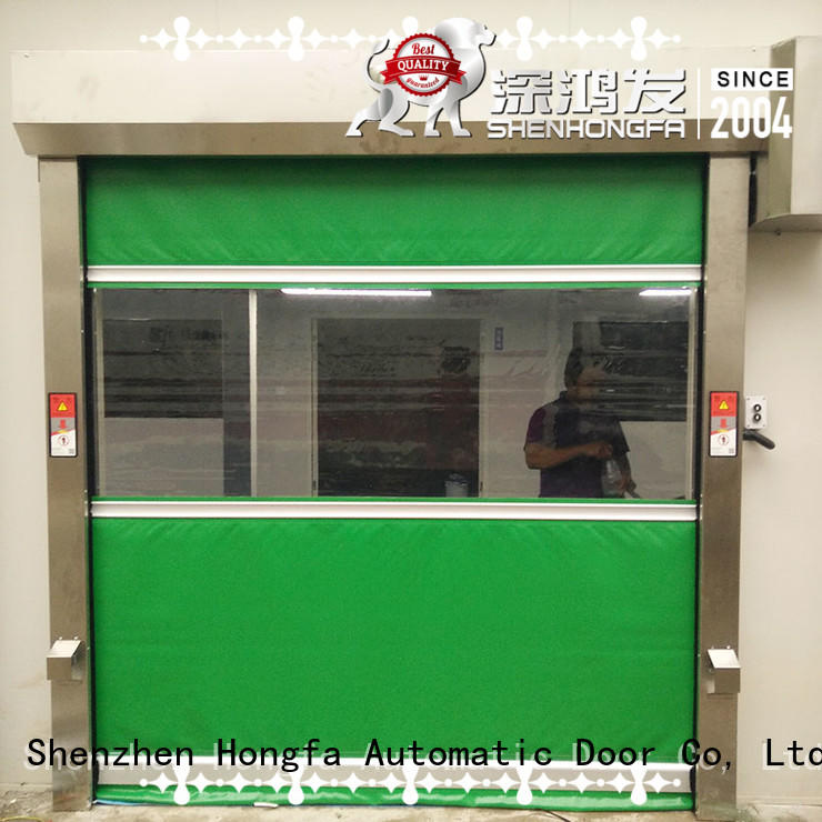 safe industrial roller doors in china for warehousing Hongfa