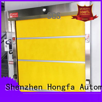 Hongfa quick pvc high speed door widely-use for warehousing