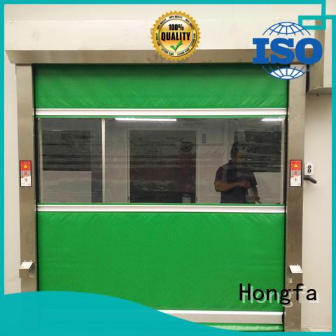 Hongfa efficient PVC fast door factory price for supermarket