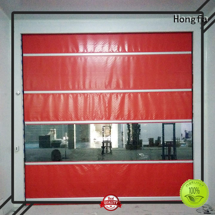 clear roll up high speed door overseas market for factory Hongfa