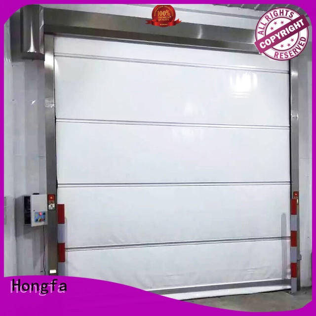 shutter industrial garage doors overseas market for supermarket Hongfa