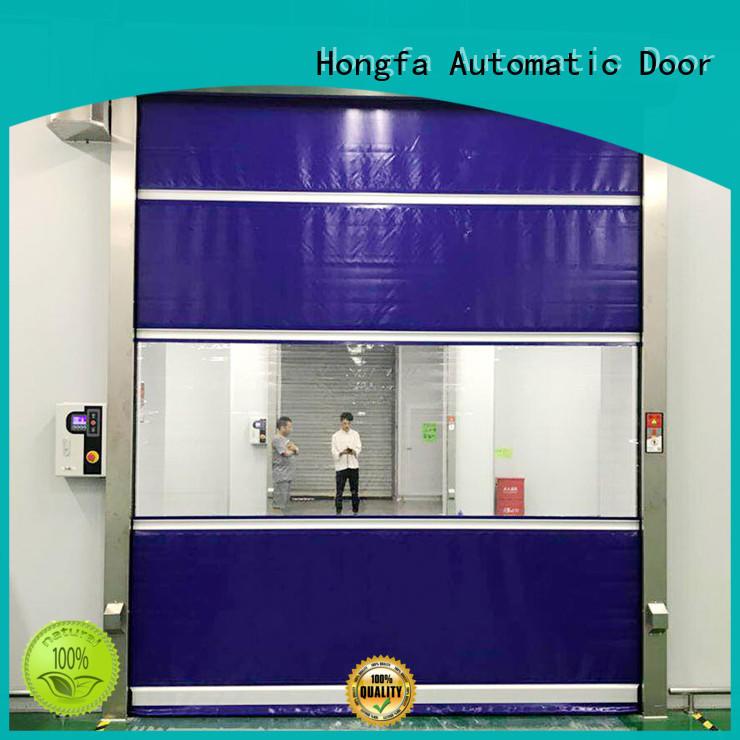 Hongfa efficient automatic roll up door overseas market for supermarket