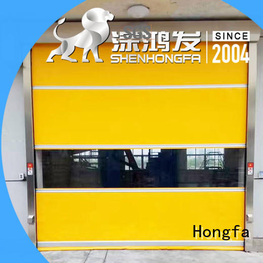 fast rapid roll up door overseas market for supermarket Hongfa