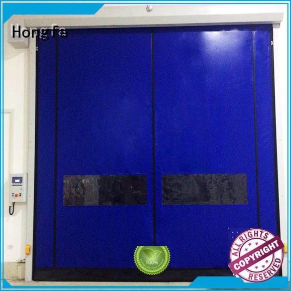 Hongfa competetive price zipper rapid door owner for warehousing
