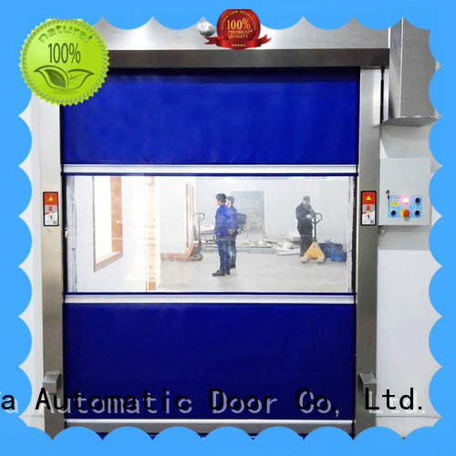 automatic rapid roll up door fabric in different color for food chemistry textile electronics supemarket refrigeration logistics