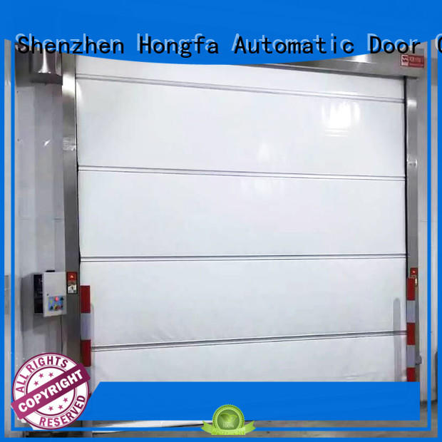 Hongfa high-speed roll up door widely-use for food chemistry textile electronics supemarket refrigeration logistics