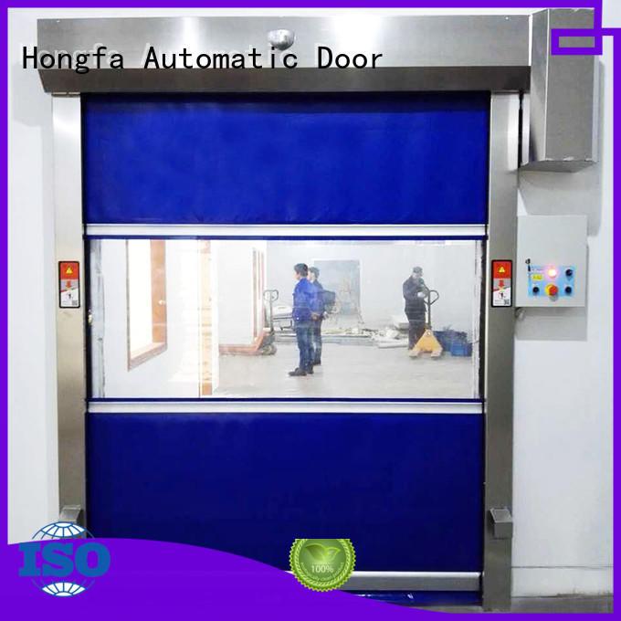 Hongfa efficient high speed door newly for food chemistry textile electronics supemarket refrigeration logistics