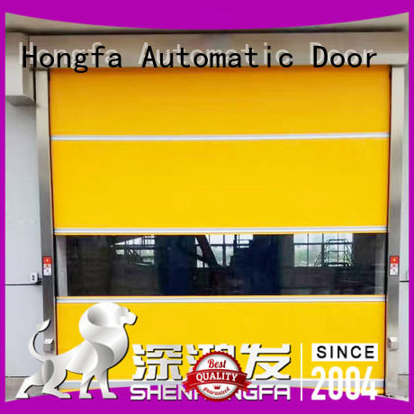 clear fabric roll up doors rolling for warehousing Hongfa